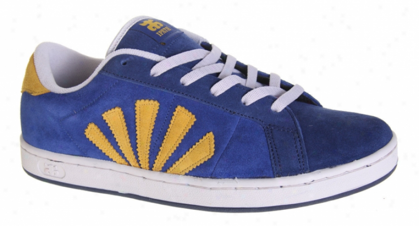 Ipath Lyon Skate Shoes Navy/yeolow Suede