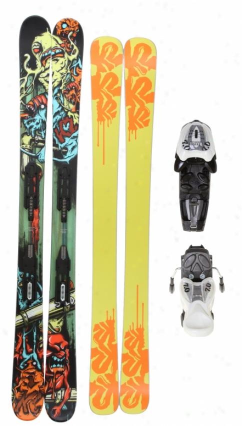 K2 Bad Seed Skis W/ Fastrack2 7.0 Bindings