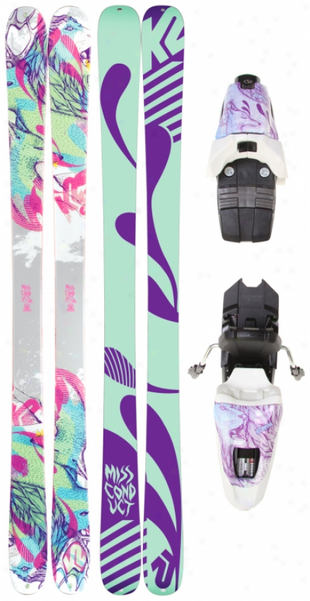 K2 Missconduct Skis W/ 10.0 Free Bindings