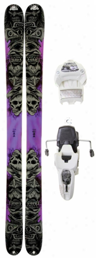 K2 Obsethed Skis W/ Marker Griffon 12.0 Shizofrantic Blndings