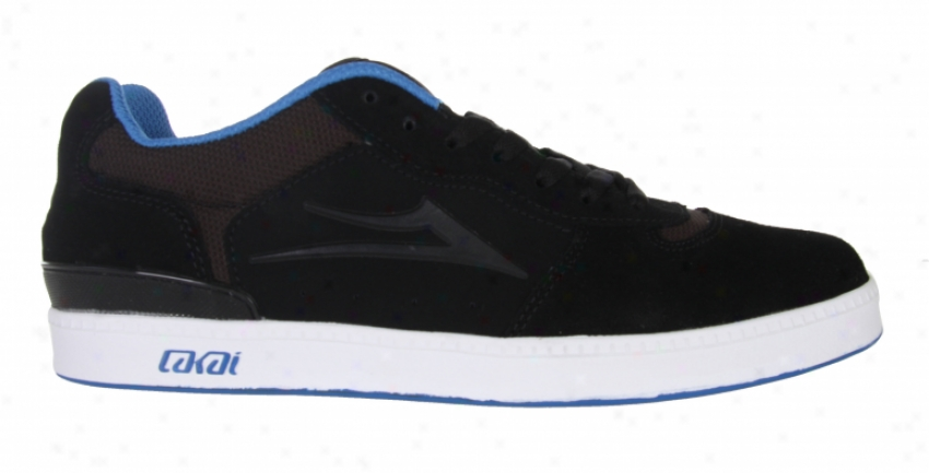 Lakai Lucas 2 Skate Shoes Black Suede