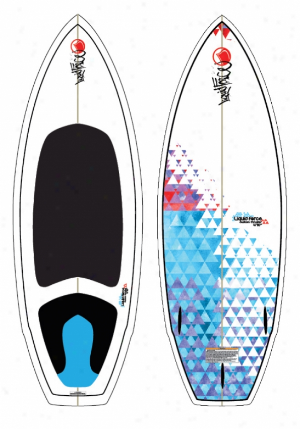 Liquid Force Cusstom Thruster Wakesurf Board 4'10""