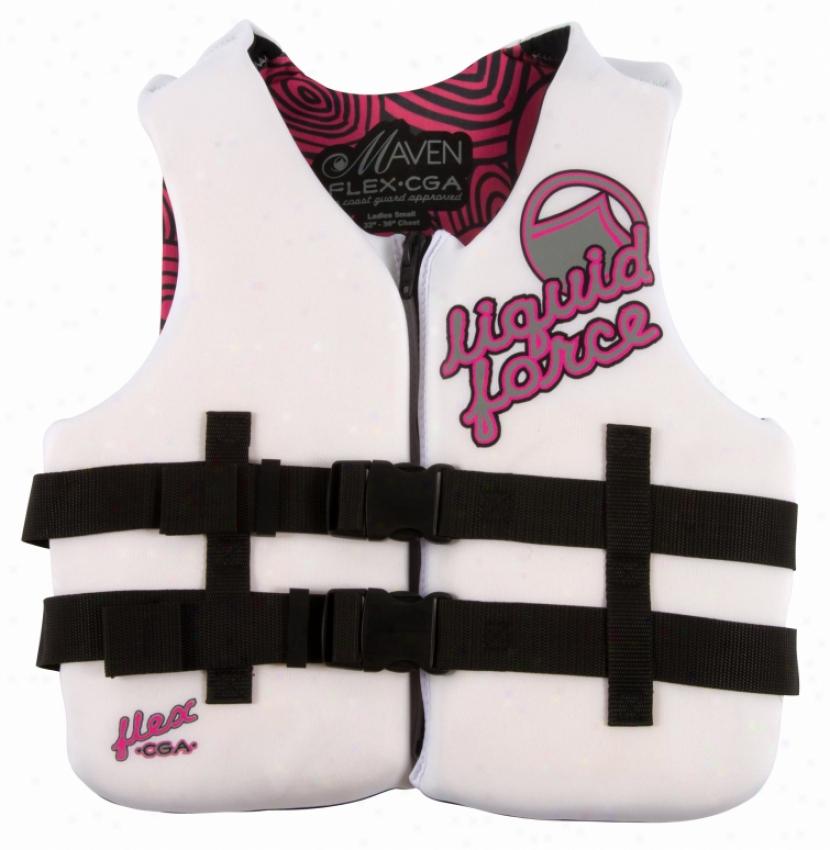 Liquid Force Flex Cga Wakeboard Vest White/pink