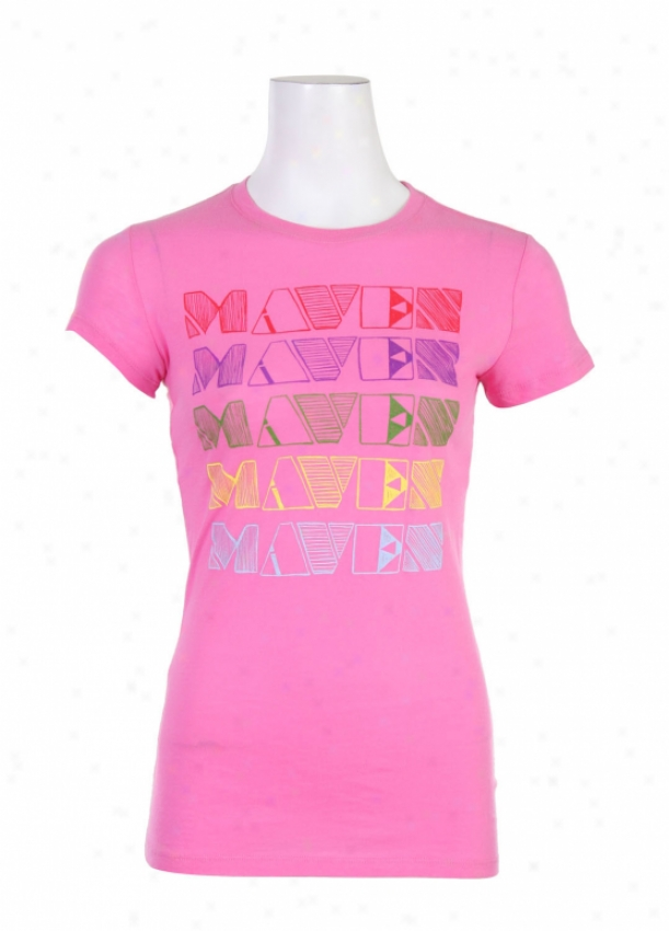 Liquid Force Rainbow Maven T-shirt Hot Pink