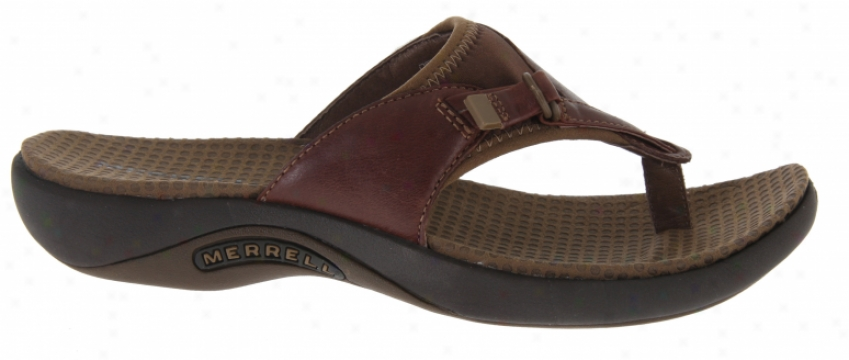Merrell Gardena Thong Sandals Brown