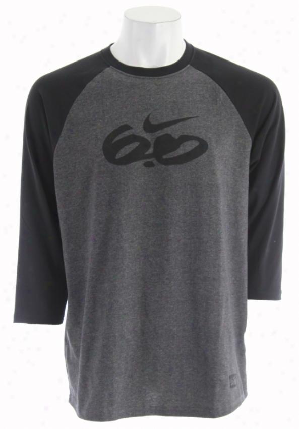 Nike 6.0 Dri Interval Sljgger T-shirt Black Heather