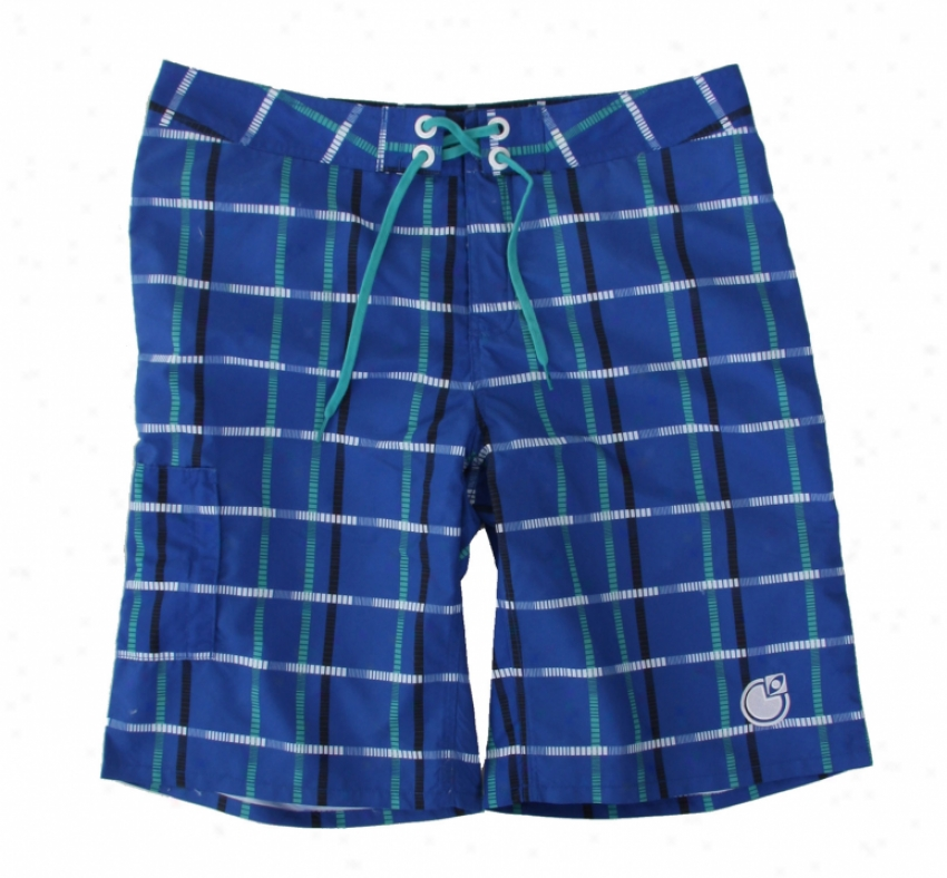 Nomos Og Plaid Boardshorts Classic Blue