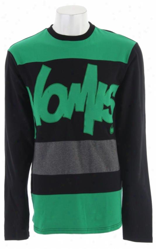 Nomis Tony L/s T-shirt Black/green