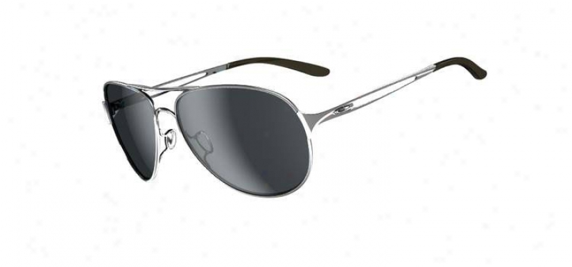 Oakley Caveat Sunglasses Polished Chrome W/ Grey