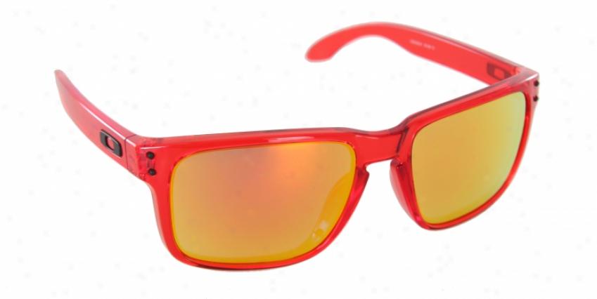 Oakley Holbrook Sunglasses Crystal Red/ruby Iridium Lens