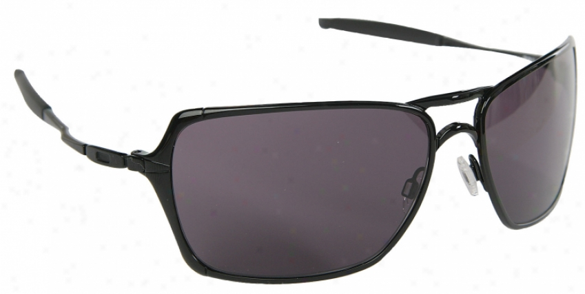 Oakley Inmate Sunglasses Polished Black/warm Grey Lens
