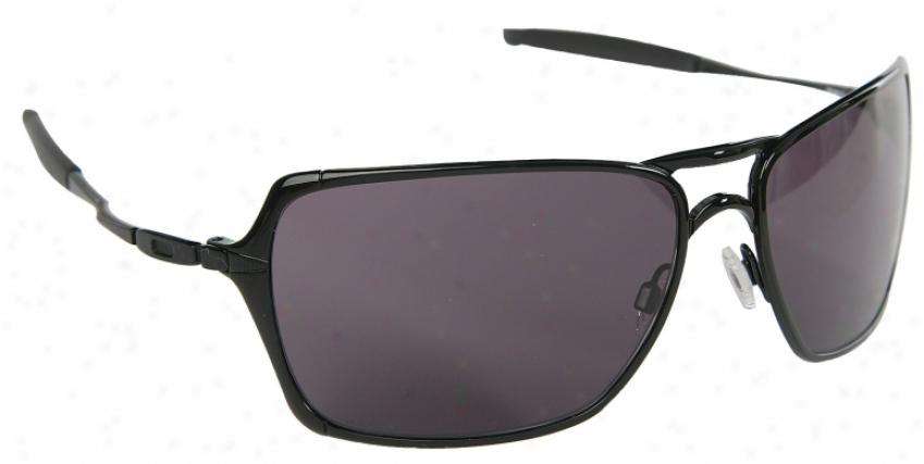 Oakley Inmate Sunglasses Polished Black/warm Grey Lens