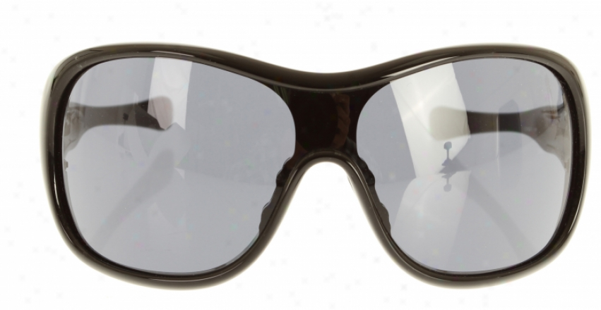 Oakley Trouble Sunglasses Polished Black/grey Lens