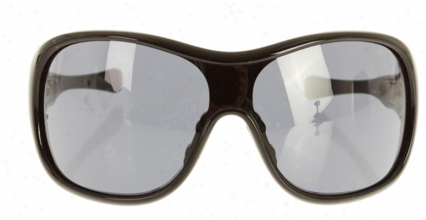 Oakley Trouble Sunglasses Polished Black/grey Lens
