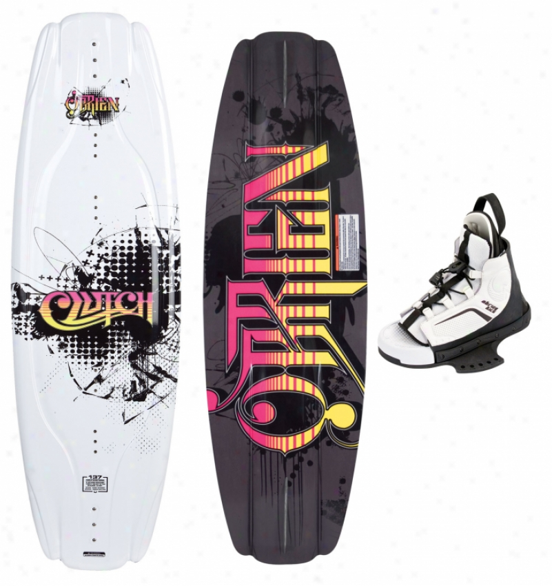 O'brien Clutch Wakeboard 137 W/ Kick Bindings Black