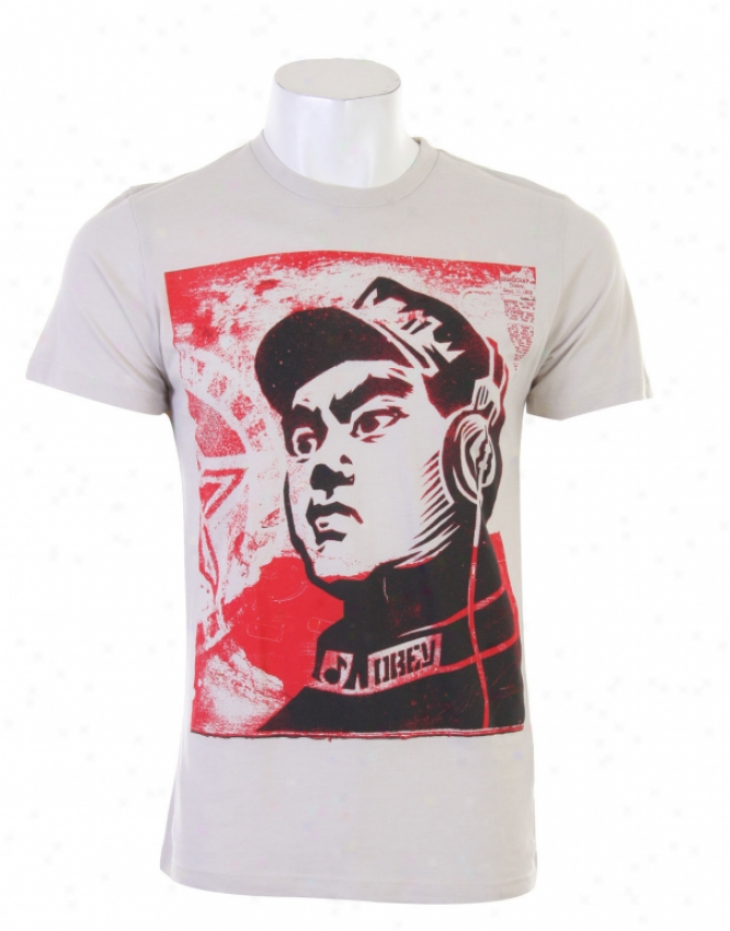 Obey Operator T-shirt Heather Stone
