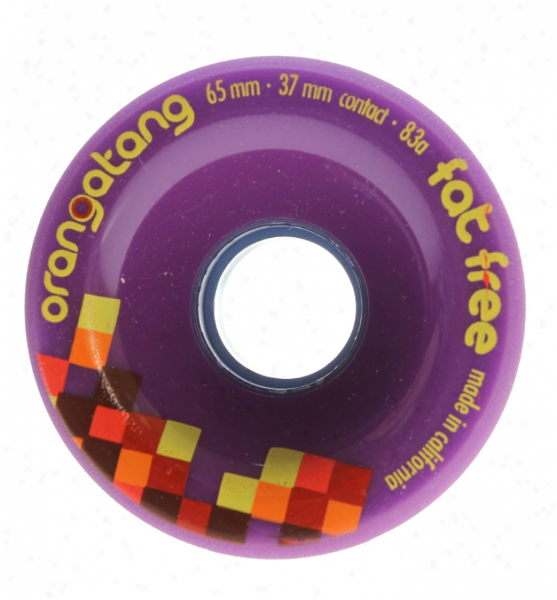 Orangatang Fat Free Longboard Skateboard Wheels Purple 65mm