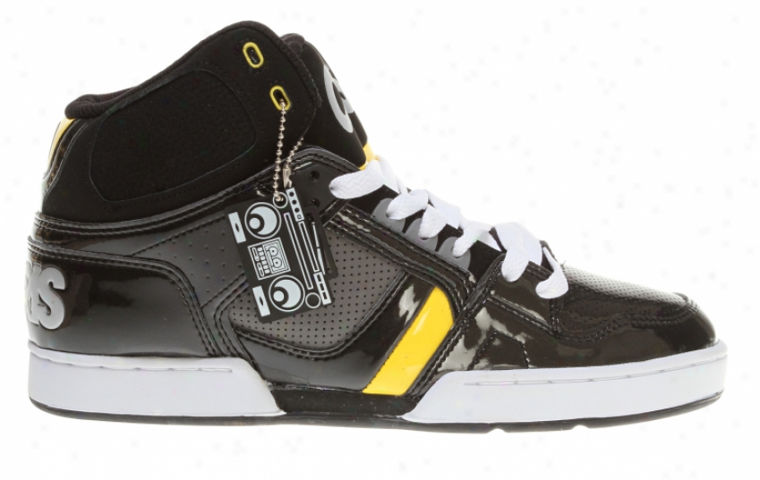 Osiris Nyc 83 Skate Shoes Black/charcoal/yellow