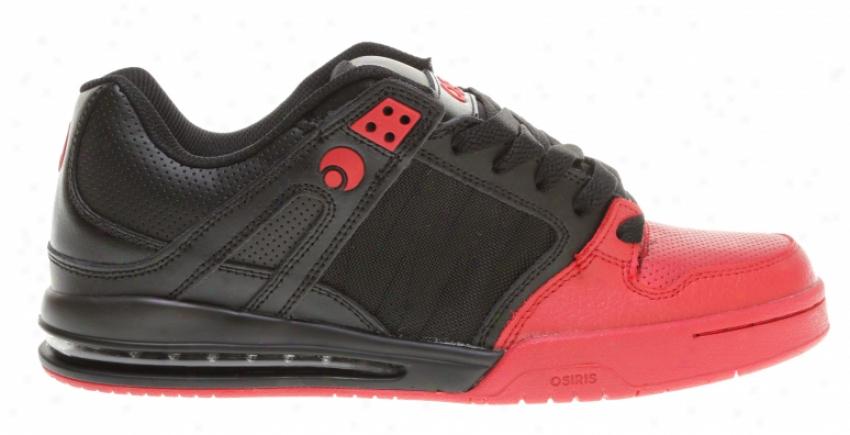 Osiris Pixel Skate Shoes Black/red/dip