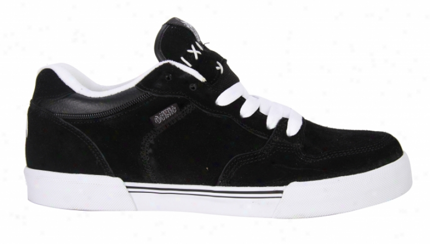 Osiris Zombie Skate Shoes Black/whi5e/gum