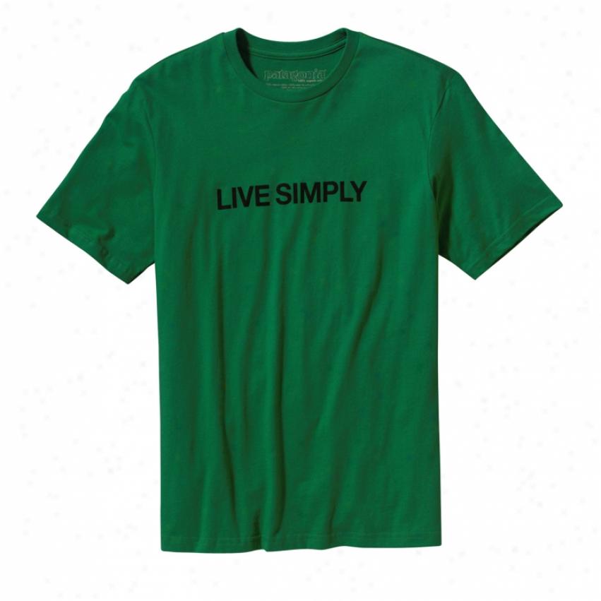 Patagonia Live Simply Text T-shirt Shamarock Green