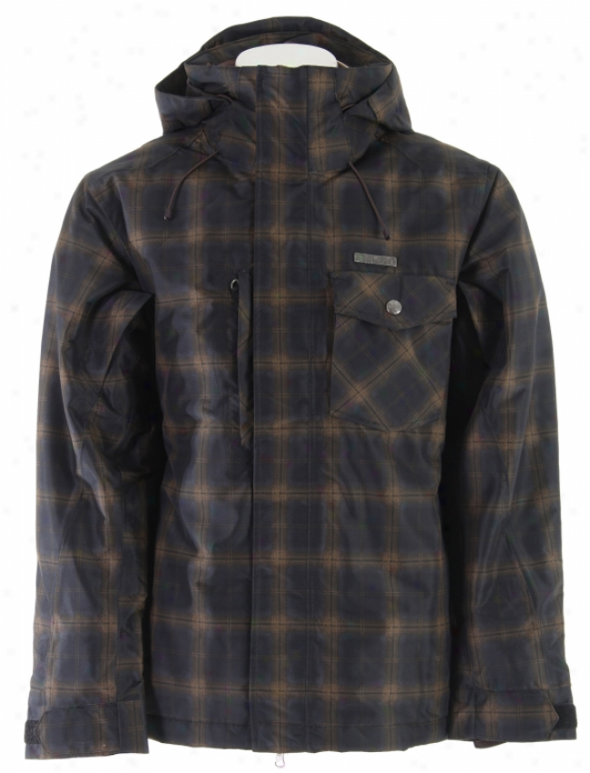Planet Earth Chetco Insulated Snowboard Jacket Cave Black/brown