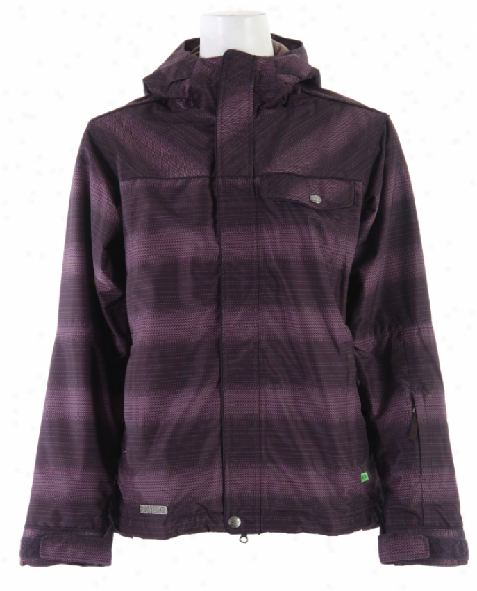 Planet Earth Jessy Insulated Snowboare Jacket Eggplant Concord Breen Ice