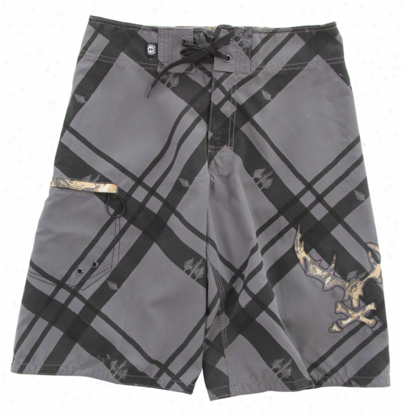 Planet Earth Palmer Boardshorts Charcoal