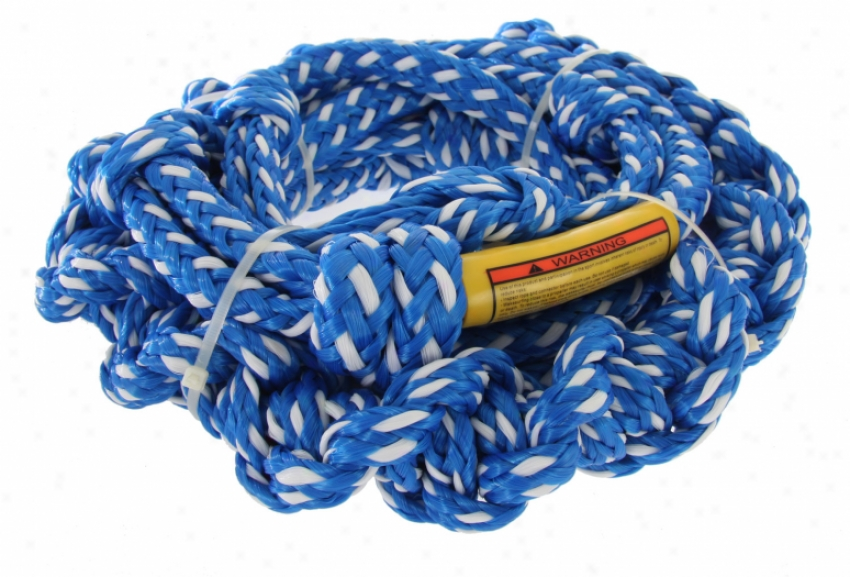 Proline Super D 10' Braided Tail W/ 2 Section Wakesurf Rope White 16'