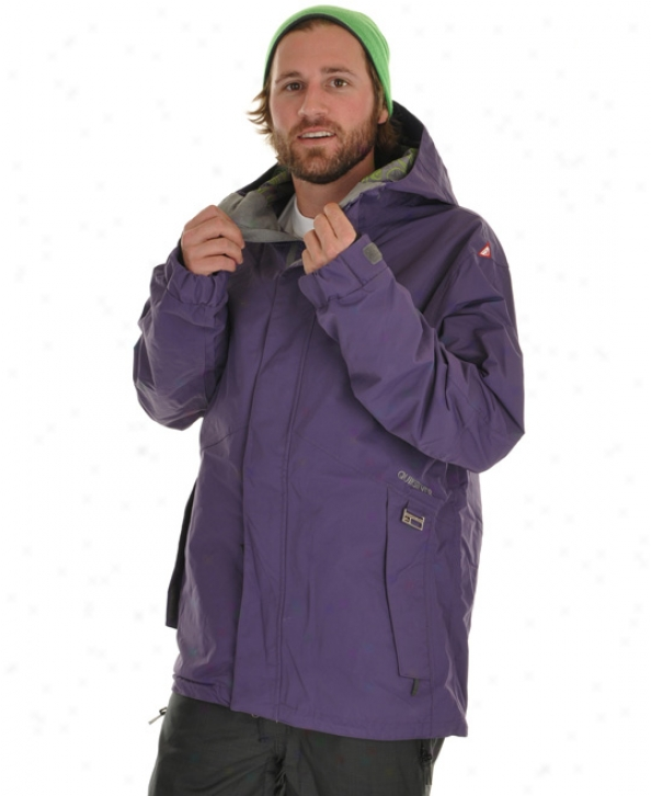 Quiksilver Everblast Snowboard Jacket Purple Jam