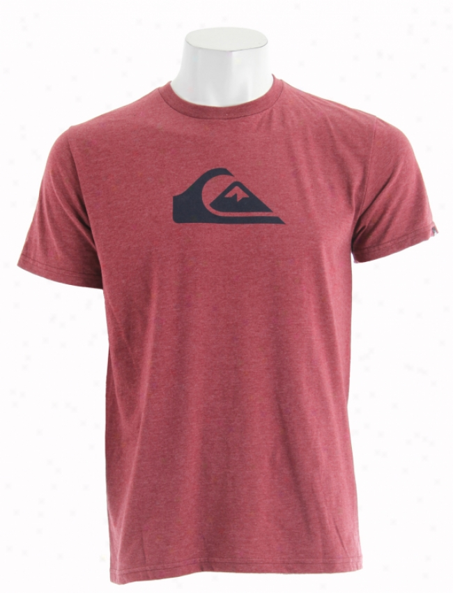 Quiksilver Mountain Wave T-shiirt Rich Red