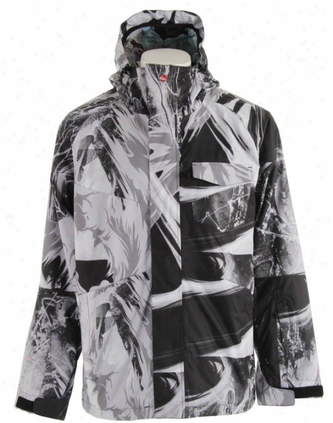 Quiksilver Travis Shell Snowboard Jacket Smoke On Pills