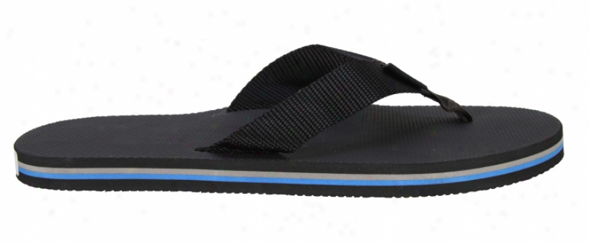 Rainbow Classic Sandals All Black Str/s Arch