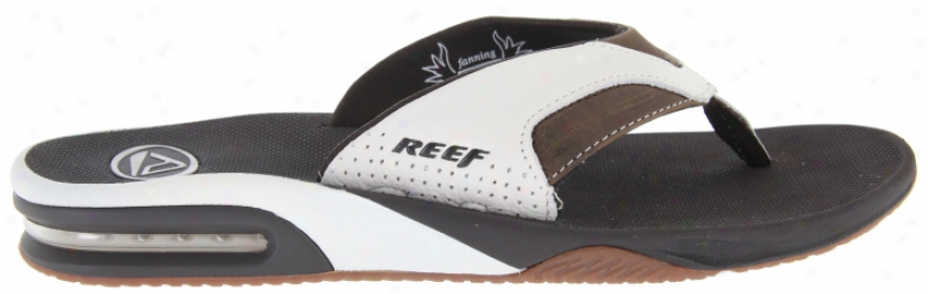 Reef Leather Fanning Sandals White/brown