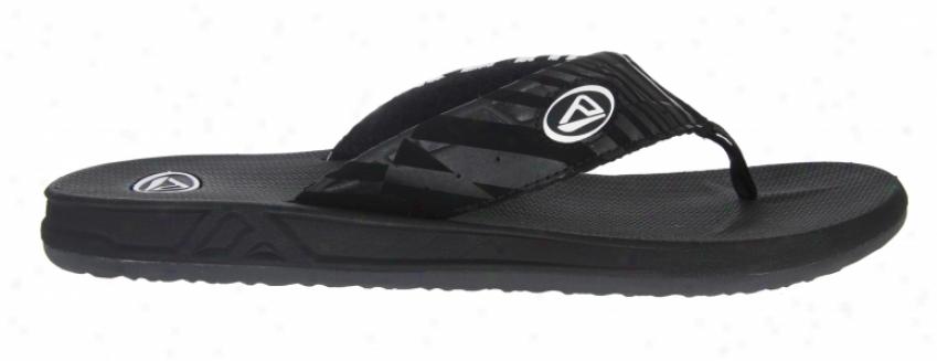 Reef Phantom Sandals Black/white