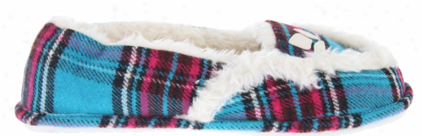 Reef Snooze Bar Slip Ons Turquoise/plaid