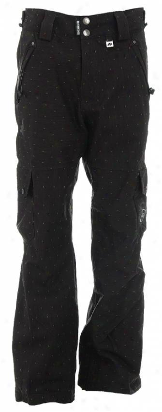 Ride Attica Vented Snowboard Pants Black Limone Diamond Stripe