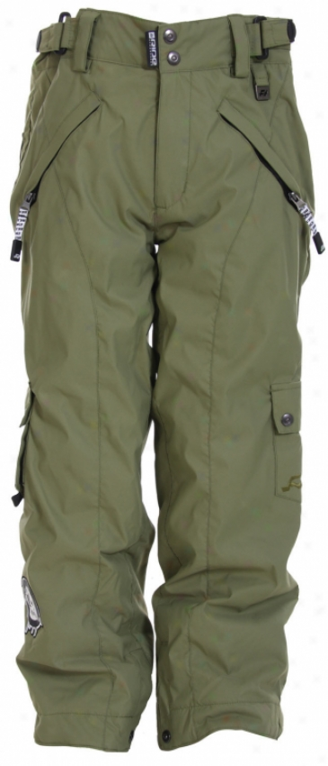 Ride Charger Vented Snow Pants Olive