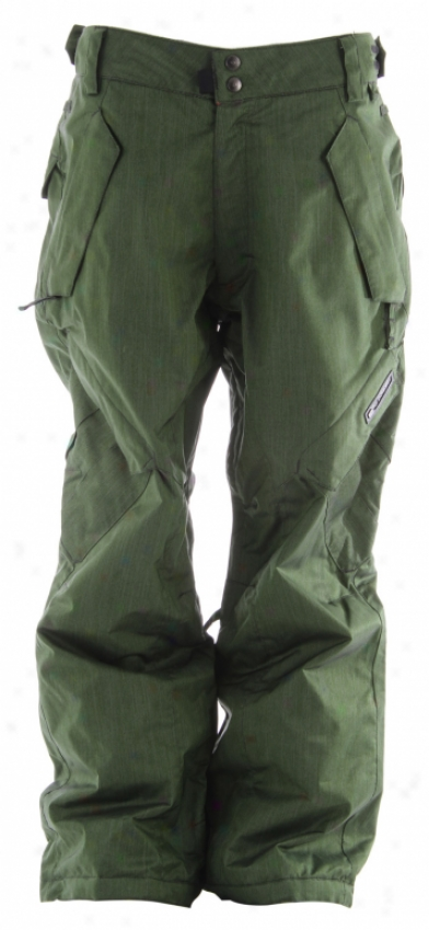 Ride Phinney Insuoated Snowboard Pants Green Denim