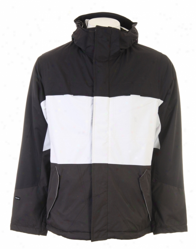 Ripzone Victory Snowboard Jacket Black/white/carbon