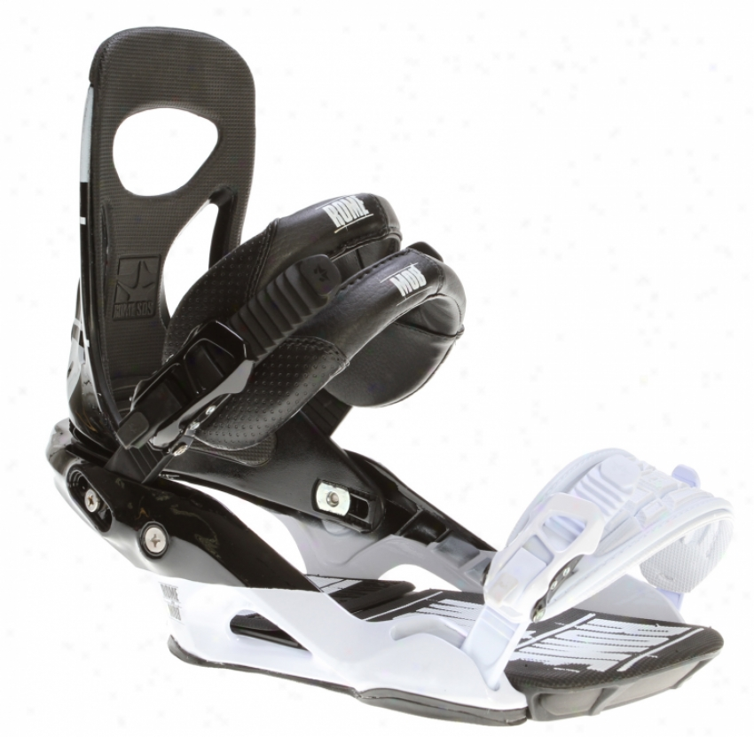 Rome Mob Snowboard Bindings Black/white