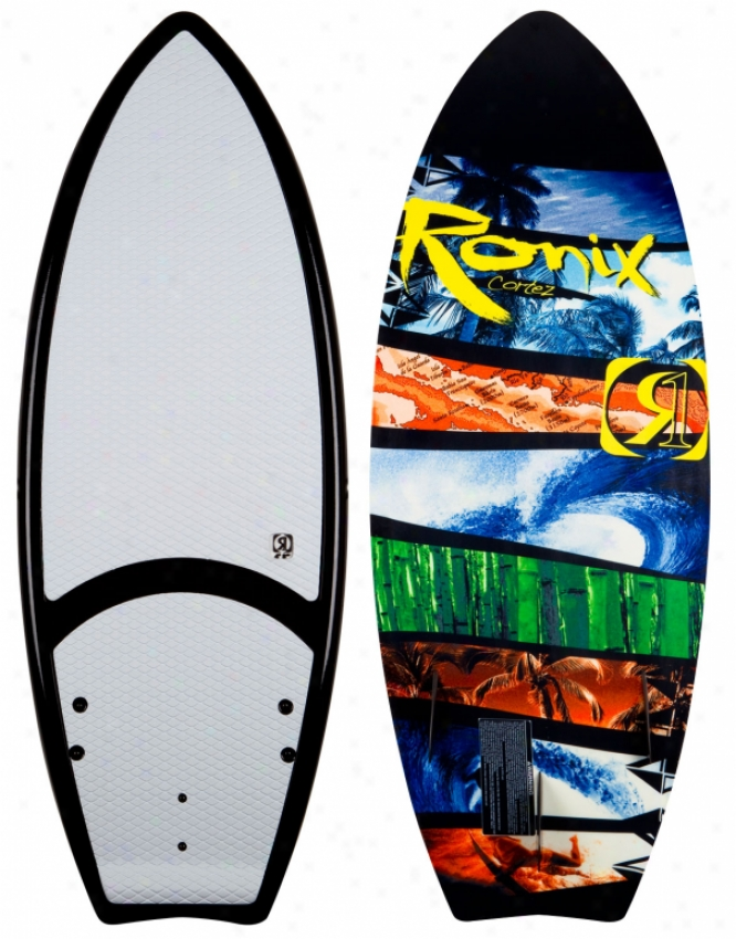"Ronix Cortez Wakesurf Board Black/green/yellow/ Blue 5' 4"""