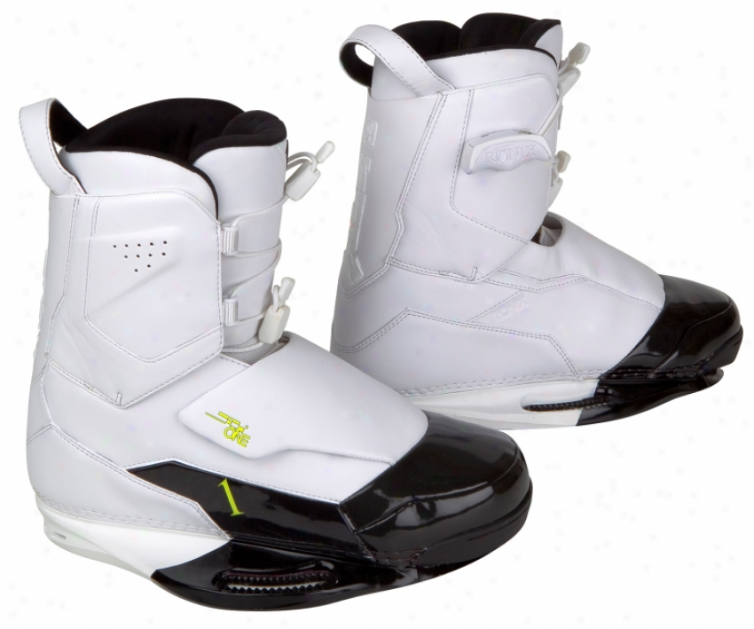 Ronix One Wakeboard Bindints White/black Patent