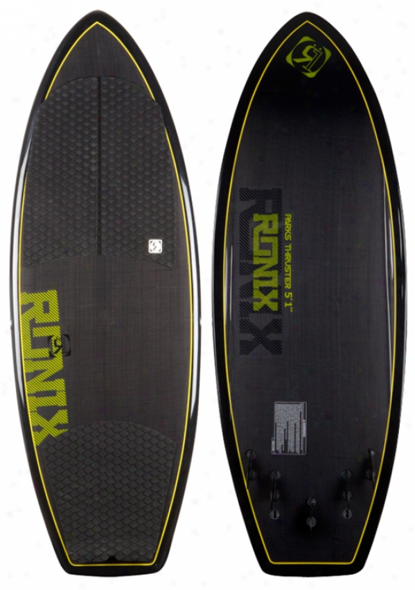 Ronix Parks Carbon Thruster Wakesurf Board 4'7""