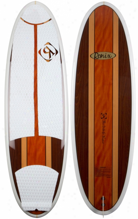 "Ronix The Duke Longboard Wakesurf Board Tri Color Wood 5'5"""