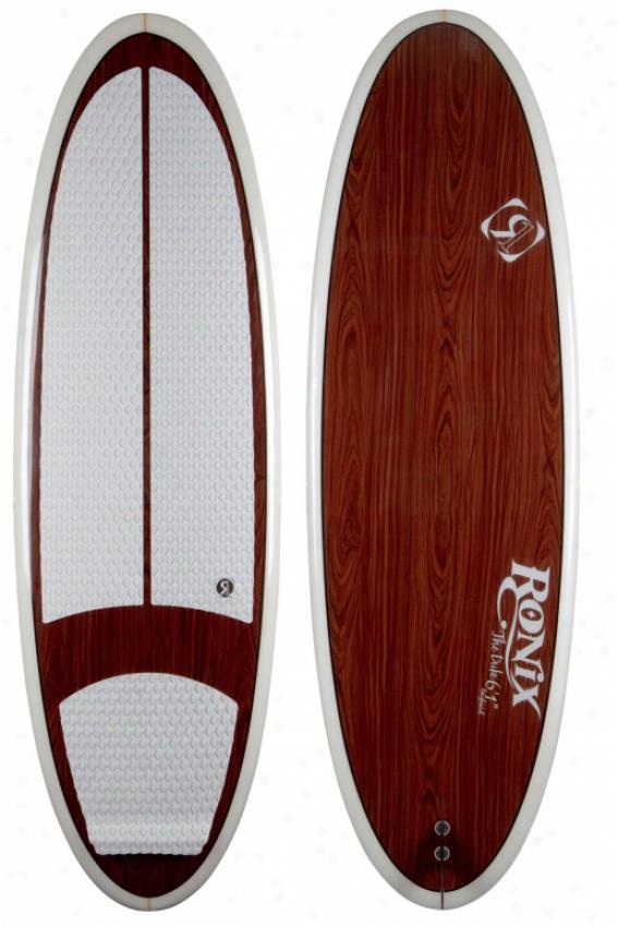 "Ronix The Dike Wakesurf Board Wood 6'1"""