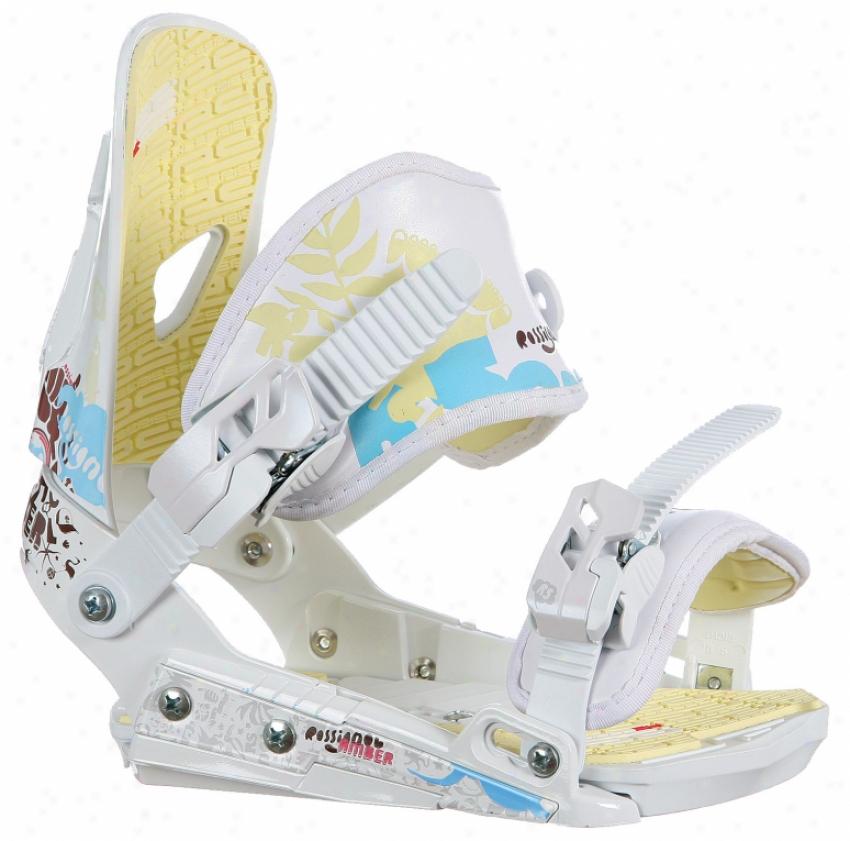Rossignol Amber Hc Snowboard Bindings White/beige