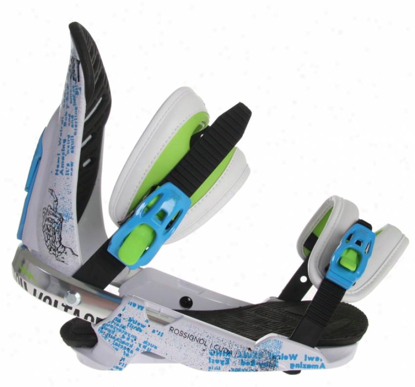 Rossignol Cuda V2 Snowboard Bindings White/cyan