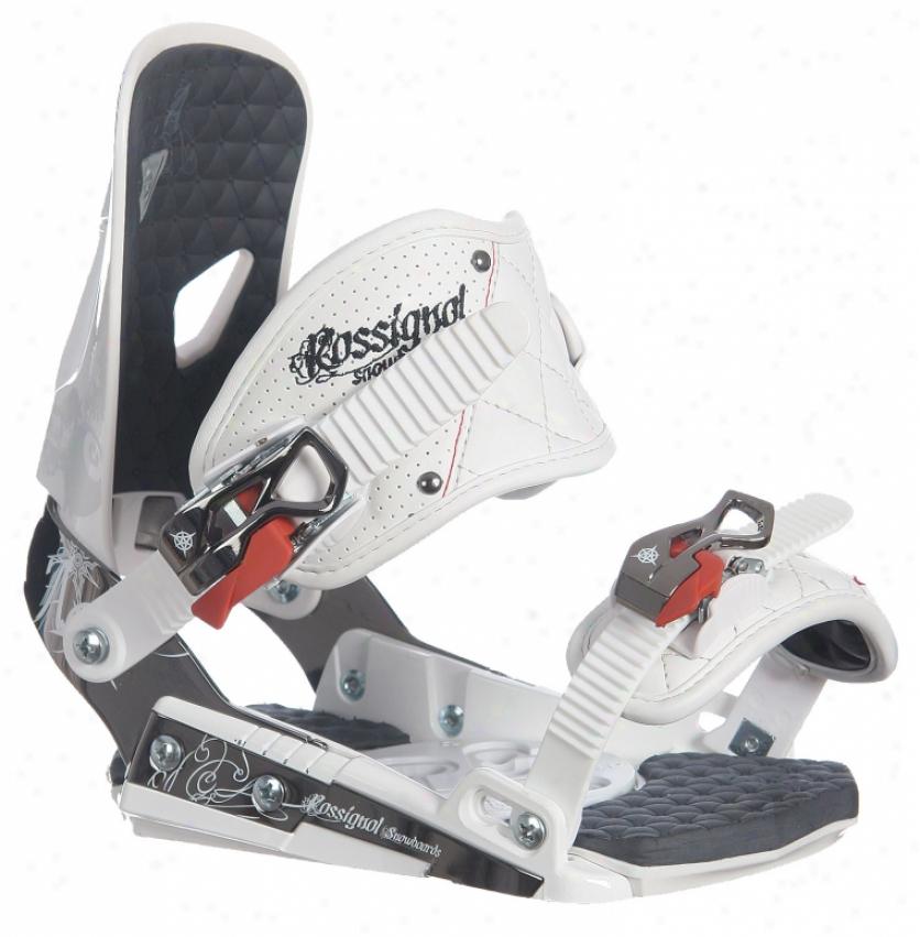 Rossignol Hc Amber Snowboard Bindings White/black