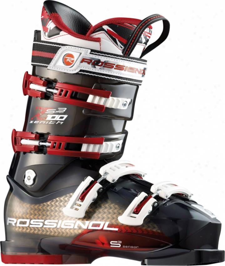 Rossignol Zenith Sensor3 100 Ski Boots Black Transpa5ent